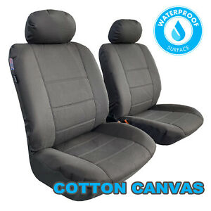 Cotton Canvas Seat Cover For Mitsubishi Pajero Front Pair Airbag Safe