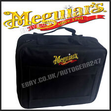 NEW Meguiars Compact 4 Bottle Zipped Storage Polishes Kit Bag with front pocket