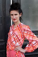 VEB Damenbekleidung MITTE  BERLIN Damen Bluse blouse pink 70er True VINTAGE 70´s