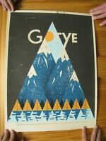 Gotye Poster Kimbra Silk Screen Signed And Numbered Doe Eyed 2012 San Francisco