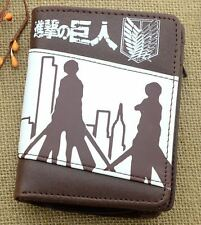 New Anime Attack on Titan Bi-Fold Synthetic Leather Purse/Wallet