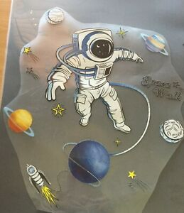Iron on transfer - for Kids clothes - Astronaut Space walking & Planets