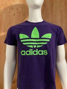 ADIDAS Graphic Print Adult Men's Men T-Shirt Tee Shirt S Small SM Purple Green