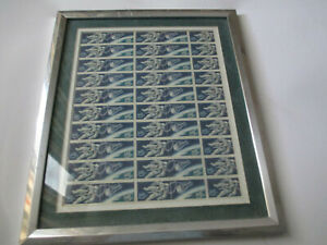 Frame US Stamp Sheet #1331-1332 Accomplishments in Space