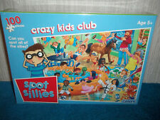 GIBSONS - SPOT THE SILLIES - CRAZY KIDS CLUB - 100 PIECE JIGSAW PUZZLE - SEALED