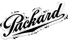 Retro Vintage Packard Car Co. Script Logo 4 inch Vinyl Sticker Decal Buick Ford