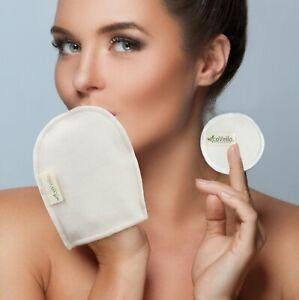 Reusable Bamboo Cotton Make Up Glove Facial Cloth Cleasing Zero Waste Organic
