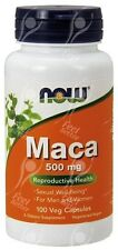 Now Foods, Pura Maca 500mg x100caps-virilidad, libido, el impulso sexual