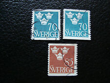 SUEDE - timbre yvert et tellier n° 336B x2 337A obl (A27) stamp sweden