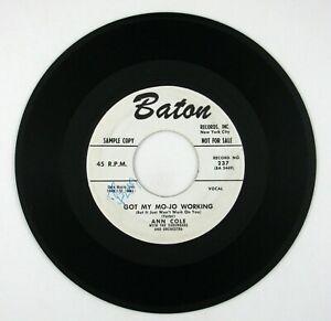 ANN COLE Got My Mojo Working/I've Got A Litte Boy 7IN 1957 R&B/ROCKER VG++