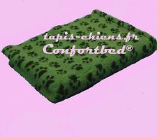 Tapis Confortbed Vetbed Dry anti-dérapant vert pattes noires 75x100 cm 26 mm