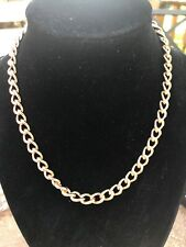 BRONZE MILOR ITALY Rose Gold Bronze  Chain Link Necklace 15 Inch  46 Grams