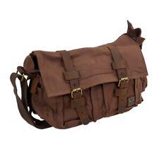 MUCHUAN Sac vintage a bandouliere de toile en cuir pour homme, sac de Messe B9K6