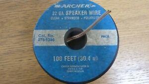 NEW OLD STOCK ARCHER 22Ga SPEAKER WIRE #D58