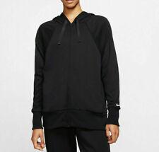 Womens Nike Get It Black Fleece Dri-Fit Full Zip Hoodie #CV6550 010 (SZ M)