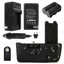 Battery Grip for Sony A77 + FM500H Battery + AC/DC Charger + Remote