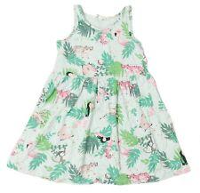 H&M Girls Size 4-6Y Pink Flamingo Animal Pattern Tank Dress
