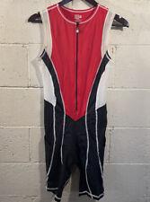 Desoto Triathlon TriSuit Sleeveless - USAT- Mens Medium - Red/Black/White