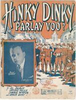 Hinky Dinky Parlay Voo? Post-World War 1 American Soldiers Return  - Sheet Music