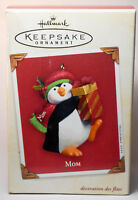 Hallmark: Mom - 2003 - Penguin WIth Present - Keepsake Ornament