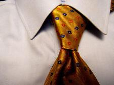 Men's Paul Fredrick Gold Italian Silk Tie A27544
