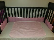 New listing Breathable baby mesh crib liner pink Eeuc