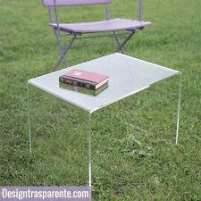 Tavolino moderno design trasparente in plexiglass da salotto 60x40 h:40cm_