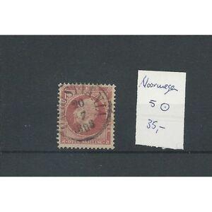 """Noorwegen 5 """"CHRISTIANA 1868""""  prachtig VFU/gebr  CV 35  €"""