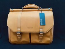 Kenneth Cole Reaction Leather Dowel Flapover Laptop Case Briefcase Bag NWT