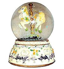 Carousel Horse Water Globe, Small Snow Globe with Glitter The Best Carousel