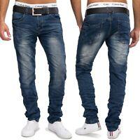 Hommes Jeansnet Jeans Pierre Washed Nr.1607 Destroyed Bleu foncé Slim Fit Tapere