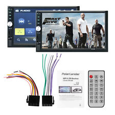"""7"""" Double 2Din In Dash Stereo Car MP5 Player Bluetooth Touch Radio FM AUX 4*45W"""