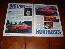 1966 GAS RHONDA MUSTANG LONG NOSE RACE CAR ***ORIGINAL 2002 ARTICLE