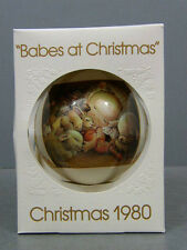 "1980 JUAN FERRANDIZ ""BABES AT CHRISTMAS"" TREE ORNAMENT SCHMID IOB 3RD LIMITED ED"