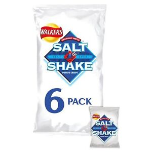 Walkers Salt and Shake Crisps 6 x 24g - Sold Worldwide From UK