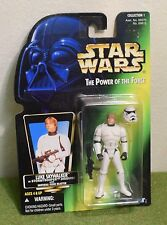STAR WARS CARDED POWER OF THE FORCE GREEN CARD LUKE STORMTROOPER