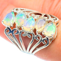 Ethiopian Opal 925 Sterling Silver Ring Size 7.5 Ana Co Jewelry R54587