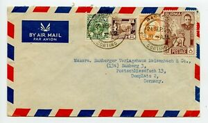 BURMA 1947 Airmail Cover to Germany