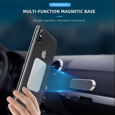 Wide Magnetic Strip Phone Holder Car Dashboard 360 Rotation + Mounting Plate FS