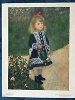 Vintage National Gallery of Art Print Renoir, Girl With a Watering Can