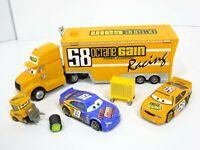 Disney Pixar Cars Hauler #58 Octane Gain Racing Truck Pit Crew Lot