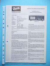 MANUEL DE REPARATION POUR ITT / GAO Hostess 52, original