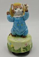Vintage Schmid Music Box Tom the Kitten  Beatrix Potter plays Born Free