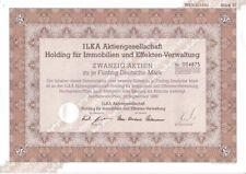 Ilka AG Holding für Immobilien und Effekten Verwaltung 1000DM 1989 Hochspeyer