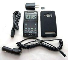 HTC EVO 4G Sprint PCS BLACK Google Android Smart Cell Phone Bluetooth PC36100 -C