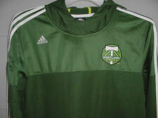 NEW! ADIDAS PORTLAND TIMBERS MLS GREEN SOCCER HOODIE JERSEY SZ YOUTH XLARGE