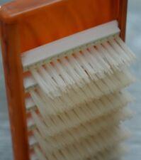 SLIDAWAY hair/clothes brush Vintage Plastic Foldaway Brown Cream Travel Brush