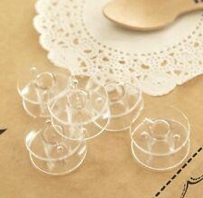 10 Bobines Canettes Transparent en Plastique Pour Fil de Machine à Coudre