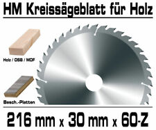 Hartmetall Kreissägeblatt 216 x ...