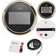 """2"""" Digital Round Motorcycle Bike GPS Gauge Speedometer Odometer MPH Km/h Red LED"""